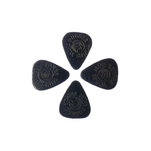 Rubber Tones Mini Black Nitrile Pack of 4 Guitar Picks